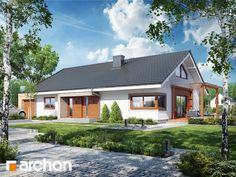 Nowa wersja projektu domu parterowego w nowoczesnej stylizacji - #Dom pod jarząbem 17 (N).