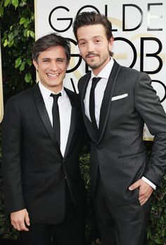 Gael Garcia Bernal and Diego Luna attend the 74th Annual Golden Globe Awards at The Beverly Hilton Hotel on January 8, 2017 in Beverly Hills, California.