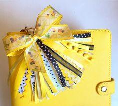Weekend off!  Made a tassel for my yellow kikki.K planner!