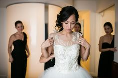 Olivia Orobona's gown was a custom design by Shin Bu #realweddings | Washingtonian Bride & Groom