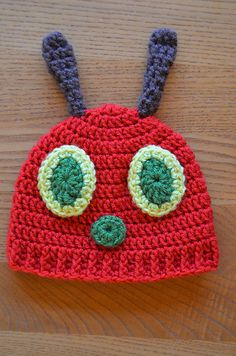 Ravelry: Hungry Caterpillar Baby Hat pattern by Mary Hodges
