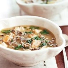 Spinach, Chicken, and Wild Rice Soup - EatingWell.com