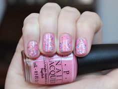pink with sprinkles!