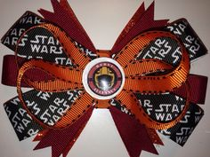 Custom made Star Wars rebel alliance inspired hair bow on Etsy, $6.50