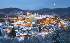 Beautiful winter in Czech Republic.