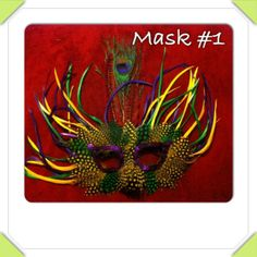 Live out your fantasy in a beautifully crafted & comfortable #Feather #Costume #Theater #Mardi Gras #Carnival #Halloween #Eye #Mask accessory. Available in a variety of designs, all masks are approximately 10 - 13 inches high and wide. Contact me & INCLUDE THE NUMBER OF THE MASK YOU WANT to avoid delay All masks are adult sized with black elastic string headband for a great fit. The colors of the item you receive may vary slightly from the listing picture because of lighting.