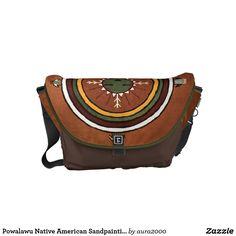 Powalawu Native American Sandpainting Messenger Bag