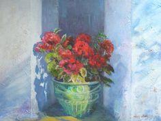 """""""Pelargonie""""- 60x80 olej, płótno Painting, Art, Art Background, Painting Art, Kunst, Paintings, Performing Arts, Painted Canvas, Drawings"""