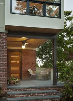 Arlington Ridge - modern - entry - dc metro - REVE Design Studio, Inc. door/entry treatment/slate