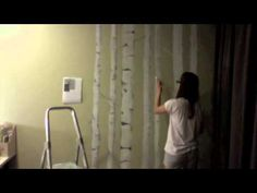 ▶ Painting birch trees on my wall - YouTube