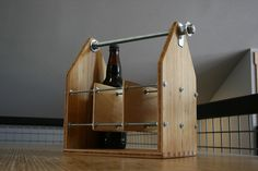 hand made beer carrier with opener by Moosicorn, via Flickr
