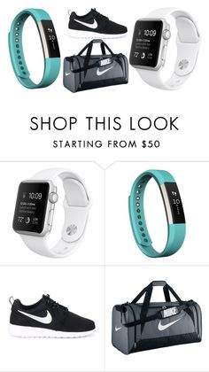 """""""Untitled #602"""" by cookiescakeandhulahoops ❤ liked on Polyvore featuring Fitbit and NIKE"""
