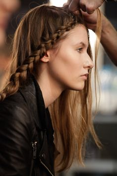 modern braid (Nica Kessler SS13 backstage)