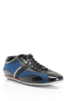 Hugo Boss - 'Thamio' | Nylon and Leather Sneakers. | #Men, #Shoes