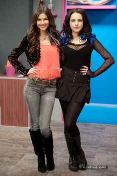 Victoria Justice & Elizabeth Gillies I like this Photo of Tori Vega and Jade West on the Victorious the Program.