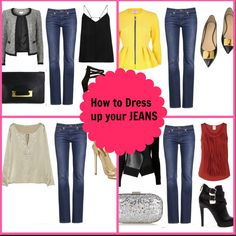 How to Dress up a Pair of JEANS. #fashion