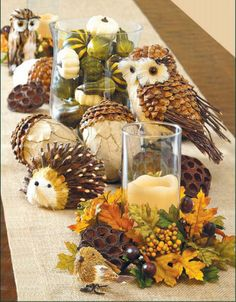 Crows Creek Primitives: Forest Fauna Tablescape Project / DIY