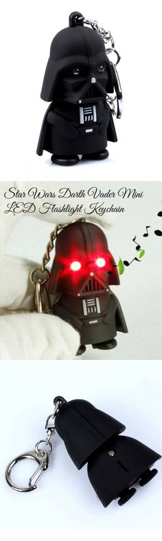 Star Wars Darth Vader Mini LED Flashlight Keychain! Click The Image To Buy  It Now or Tag Someone You Want To Buy This For.  StarWars 1c0b63ccff