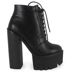 New Womens Ladies Ankle Platform High Goth Punk Geek Block Heel Shoes Boots Size 3-8 Uk