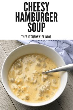 Cheesy Hamburger Soup is full of cheesy goodness. Cheesy Hamburger Soup is full of cheesy goodness. Hamburger Soup Crockpot, Hamburger Potato Soup, Cheesy Potato Soup, Crock Pot Soup, Cheesy Potatoes, Hamburger Recipes, Hambuger Soup, Crockpot Recipes, Cooking Recipes
