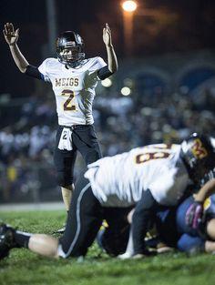 Eli Hiller caught Meigs quarterbackKalieb Sheets as he celebrated a touchdown.
