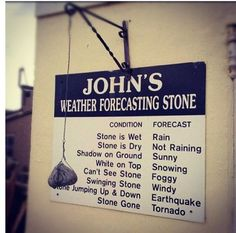 Weather Forecasting Stone: more accurate than the weatherman.