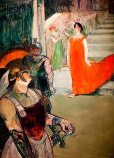 Henri de Toulouse-Lautrec:  The Opera Messalina at Bordeaux,
