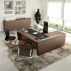Large office furniture design ideas http://www.furniturefashion.com/x10-executive-office-desk/?utm_campaign=coschedule&utm_source=pinterest&utm_medium=Furniture%20Fashion&utm_content=Relax%20at%20Work%20Behind%20the%20X10%20Executive%20Office%20Desk #executiveofficedesigns