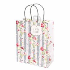 Julie Dodsworth Honey Bee Gift BagJulie Dodsworth Honey Bee Gift Bag with stunning roses on a striped grey background. Beautiful gift bag for any celebration Size: 200 x 250mm x 100mm when open Subtle slate coloured rope handlesCards and Gift Wrap
