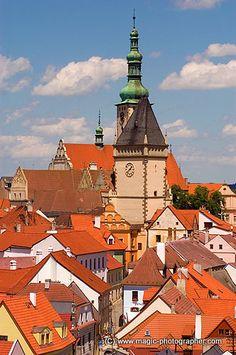 Tábor  la ville médiévale dans la Bohême du Sud, Tchéquie