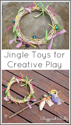 Make some jingle toys for creative play! So easy to make and very inexpensive! ~ Buggy and Buddy