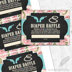 Pistols or Pearls Gender Reveal Diaper Raffle Tickets