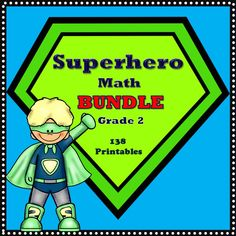 This bundle contains 4 superhero themed grade math products with a total of 138 no prep printables! 2nd Grade Teacher, Second Grade Math, Math Stations, Math Centers, Classroom Resources, Math Resources, Math Superhero, Reading Comprehension Activities, Math Task Cards