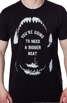 36c13d7bba13a3 Need A Bigger Boat Jaws T-Shirt  80s Movies  Jaws Shirts Jaws Shirt