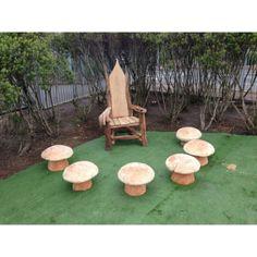Storytelling Mushroom Stools - Storytelling Chair - Handmade Chairs - Reclaimed Wood Furniture