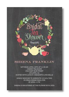Printable Bridal Tea Shower Invitation by PerfectlyPrintables, $16.00