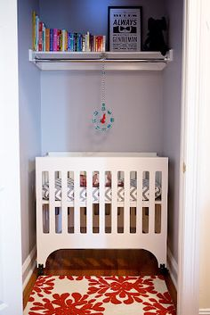closet nursery - Is it wrong that I love the idea of putting baby in the closet?