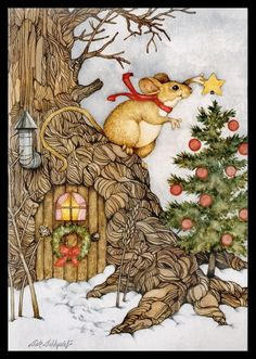 Current Mouse Christmas Greeting Card 194 | eBay