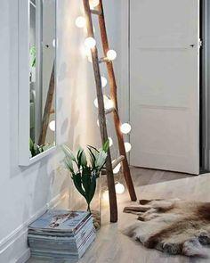 46 Trendy home design livingroom fairy lights Diy Bedroom Decor, Living Room Decor, Diy Home Decor, Bedroom Inspo, Hemnes, Trendy Home, Awesome Bedrooms, Light Decorations, Fairy Lights