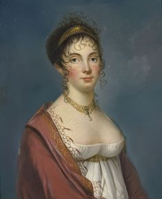 Portrait of a lady by an artist from the school of Francois Gerard, early century. Madame de Pompadour - Street Fashion, Casual Style, Latest Fashion Trends - Street Style and Casual Fashion Trends Jane Austen, Posh People, Regency Dress, Regency Era, 1800s Fashion, Hair Reference, Empire Style, Historical Costume, Photography Women