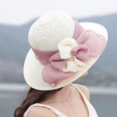 Bow flowers straw hat UV protection sun hats for women Sun Hats For Women, Canvas Bags, Fascinator Hats, Best Gifts, Baseball Hats, Bows, Womens Fashion, Flowers, Unique