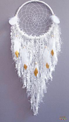 Dreamcatchers- Ethereal Elvish Large Native Style Handwoven Dreamcatcher by eenk