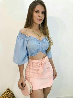 The Best Ways To Wear Mini Skirts This Summer - Summer Fashion - Fashionable Teenage Outfits, Teen Fashion Outfits, Sexy Outfits, Stylish Outfits, Girl Fashion, Summer Outfits, Cute Outfits, Crop Top Outfits, Skirt Outfits