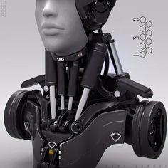 Droid Bust #02, Edon Guraziu on ArtStation at http://www.artstation.com/artwork/droid-bust-02