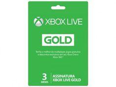 Live Gold 3 Meses para Xbox One e Xbox 360 - Microsoft com as melhores condições você encontra no Magazine Tradelux. Confira!