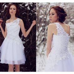 Description:  Silhouette:+A-line Neckline:+One+Shoulder Hemline/Train:Short/Mini Sleeve+Length:Sleeveless Embellishment:Appliques Back+Details: Fabric:Tulle   Size:+standard+size+or+custom+size,+if+dress+is+custom+made,+we+need+to+size+as+following+ bust______+cm/inch+ waist______cm/...