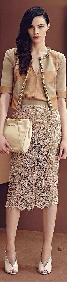 Haute Couture lace skirt women fashion outfit clothing style apparel @roressclothes closet ideas