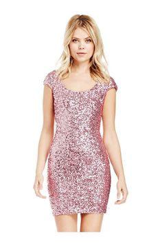 Packet Buttock Party Dress With Sequin