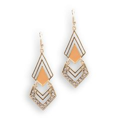 Carole Juniors Chevron and Triangle Earrings #VonMaur