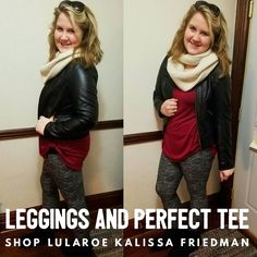 Nothing beats a great pair of leggings with a comfortable Perfect Tee for any size, shape, and age! #perfecttee #lularoeleggings #lularoeperfecttee #luladdict #kalissalularoe #lularoe Join my group! https://www.facebook.com/groups/322758231438613/